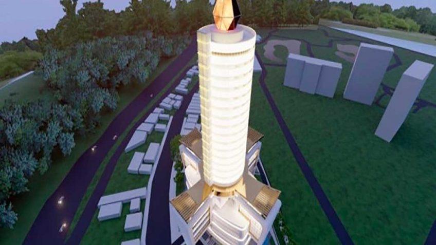 """""""Vela da Fé"""": Aparecida terá novo hotel com 26 andares e """"chama"""" de 17 metros"""